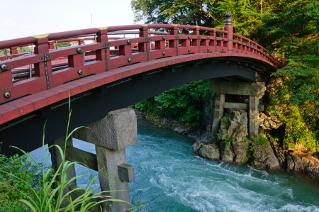 Shinkyo bridge in Nikko, Japan 스톡 콘텐츠