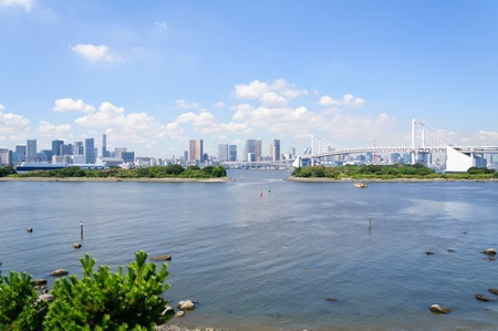 Tokyo Skyscrapers view from Odaiba Stock Photo - 10921022