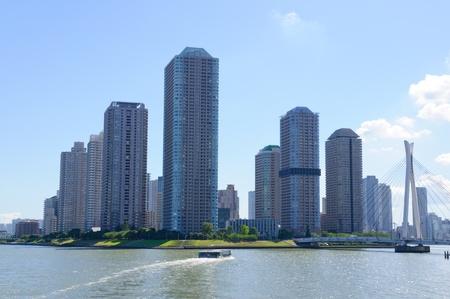 Rivercity 21 in Tokyo Lizenzfreie Bilder