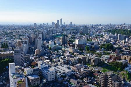 Cityscape in Richtung Ikebukuro in Tokio