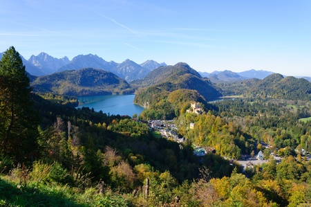 Castle Hohenschwangau and Lake Alp