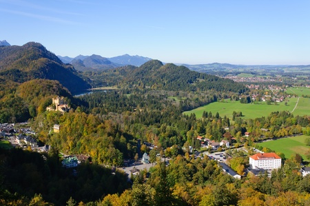 Castle Hohenschwangau and Bavarian Alps