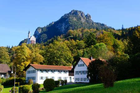 Castle Neuschwanstein and Village of Hohenschwangau