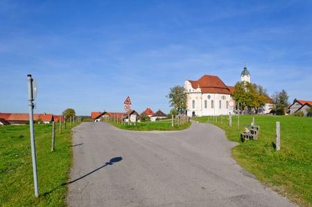 peregrinación: Iglesia de peregrinaci�n Wies Foto de archivo