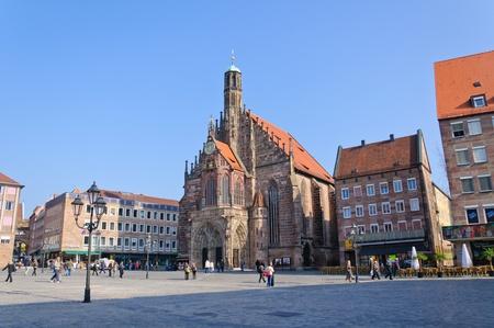 frauenkirche: Frauenkirche (Liebfrauenkirche) in N�rnberg, Deutschland