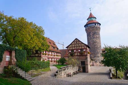 Kaiserburg in Nürnberg, Deutschland Editorial