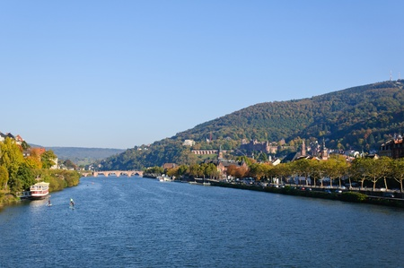 Castle and the Old Town in Heidelberg, Germany photo