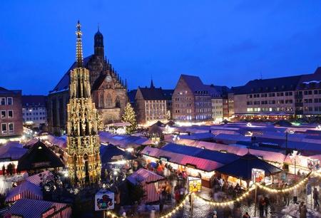 Christkindlesmarkt in Nürnberg, Deutschland