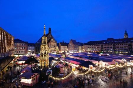 weihnachten: Christkindlesmarkt in Nuremberg, Germany