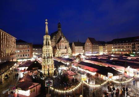 Christkindlesmarkt in Nürnberg, Deutschland Standard-Bild - 11165861