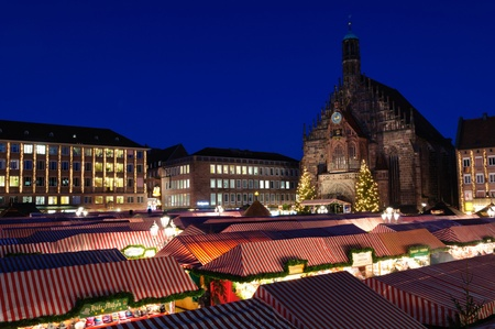 christkindlesmarkt: Christkindlesmarkt  Christmas market  in Nuremberg, Germany Stock Photo