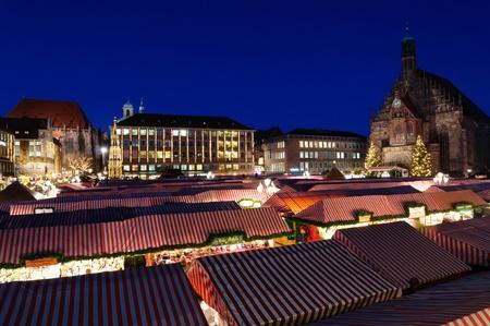 Christkindlesmarkt  Christmas market  in Nuremberg, Germany Standard-Bild