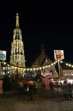 Christkindlesmarkt  Christmas market  in Nuremberg, Germany Stock Photo - 12322355