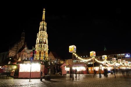 Christkindlesmarkt  Christmas market  in Nuremberg, Germany photo