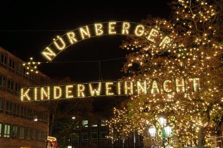 Christmas illuminations in Nuremberg, Germany