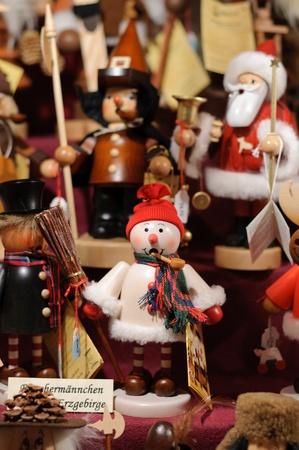Nussknacker auf dem Weihnachtsmarkt von Nürnberg in Deutschland