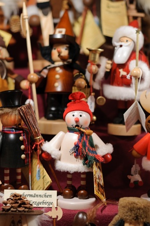 Nutcrackers at the christmas market of Nuremberg in Germany photo