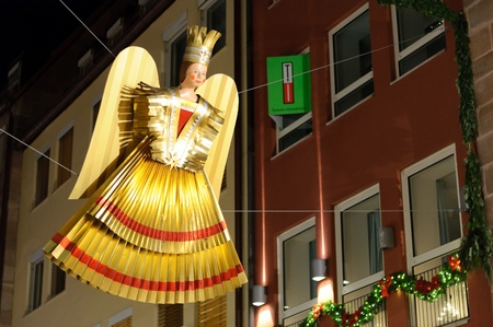 Angel at the christmas market of Nuremberg in Germany photo