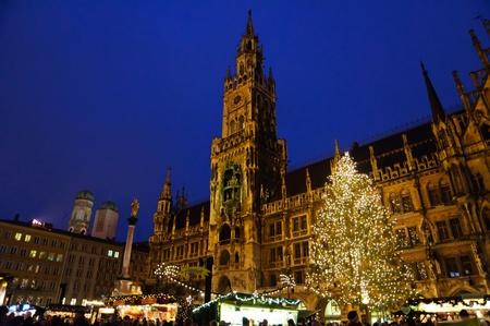 Weihnachtsbeleuchtung in München, Deutschland Editorial