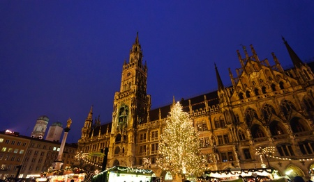 Christmas illuminations in Munich, Germany Stock Photo