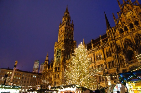 Christmas illuminations in Munich, Germany 報道画像
