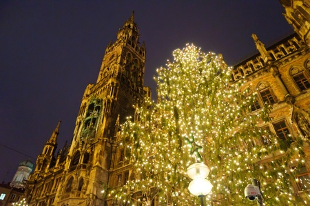 Christmas illuminations in Munich, Germany photo