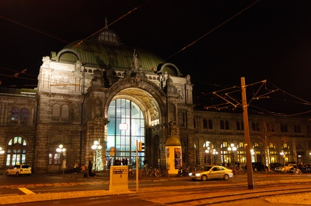 The Nuremberg central station at the Christmas time