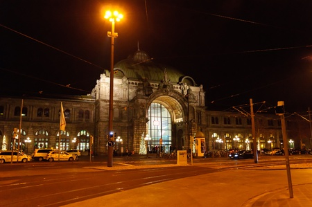 The Nuremberg central station at the Christmas time Stock Photo - 12689563