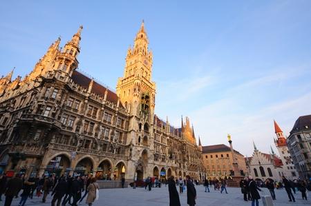 Marienplatz in München, Deutschland Editorial