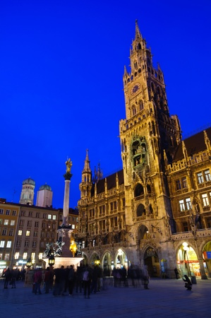 frauenkirche: City Hall and Frauenkirche in Munich, Germany