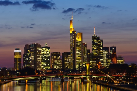 frankfurt: Frankfurt am Main, Germany in the twilight