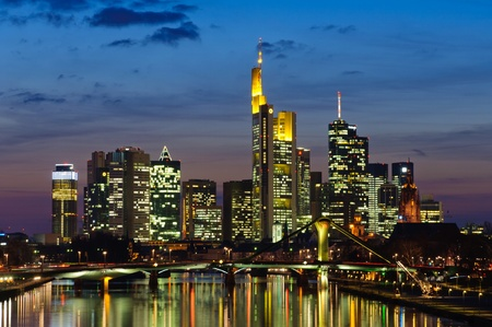 Frankfurt am Main, Germany in the twilight Stock Photo - 13072109