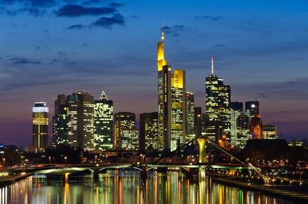 Frankfurt am Main, Germany in the twilight Stock Photo - 13072109