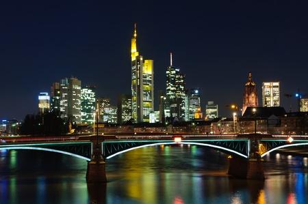 Frankfurt am Main, Germany at night  Editorial