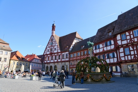half timbered: Forchheim, Germany Editorial