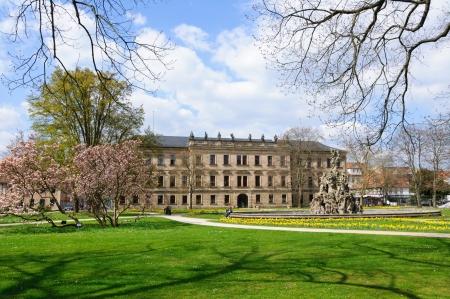 Schloss garten in Spring in Erlangen, Germany Stock Photo - 13715632