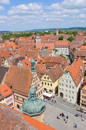 Market square of Rothenburg ob der Tauber, Germany
