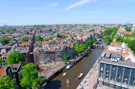Blick von der Westerkerk, Amsterdam, Niederlande Editorial