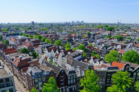 View from the Westerkerk, Amsterdam, Netherlands