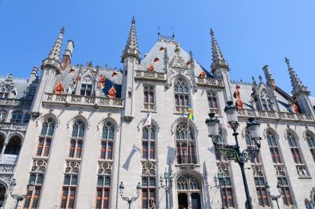 provincial: The Provincial Court  Provinciaal Hof  in Bruges, Belgium Editorial