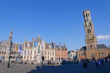Der Markt Marktplatz in Brügge, Belgien