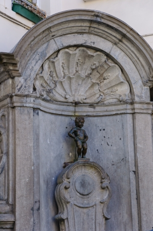 Manneken Pis in Brüssel, Belgien Standard-Bild - 53419187