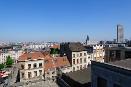 View from the Palais de Justice in Brussels, Belgium photo