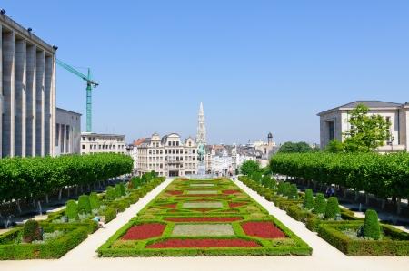guild halls: Mont des Arts in Brussels, Belgium Editorial