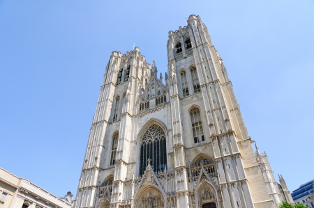 Cathedral St Michel in Brussels, Belgium photo