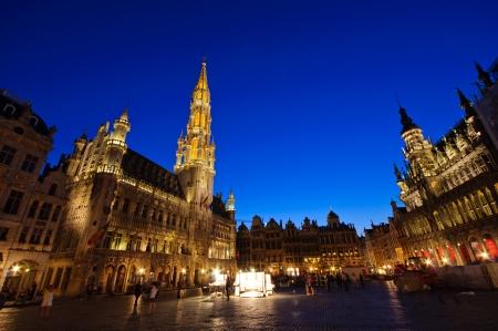 guild halls: Grand Place in Brussels, Belgium Editorial