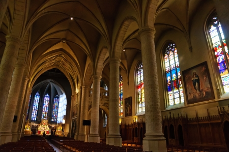 Cathedrale Notre-Dame in the City of Luxembourg Editorial