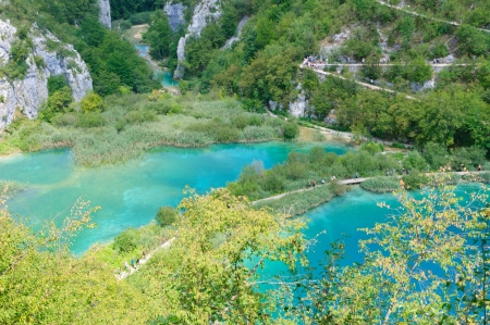 plitvice: Plitvice Lakes National Park, Croatia Stock Photo