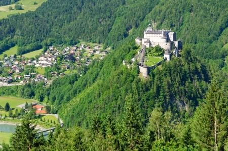 burg: Burg Hohenwerfen and the Town of Werfen in Austria