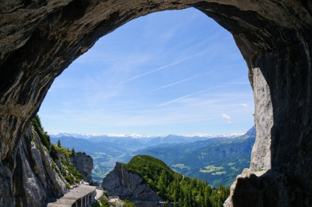 Entrance of the Eisriesenwelt  Ice cave  in Werfen, Austria Stock Photo